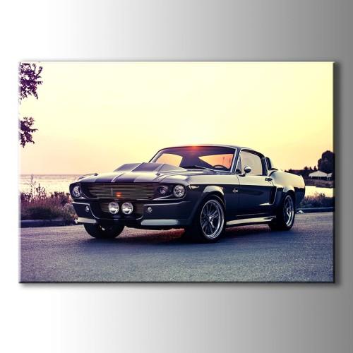 Mustang Klasik Araba Kanvas Tablo