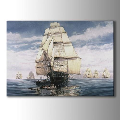 Eski Gemi Kanvas Tablo