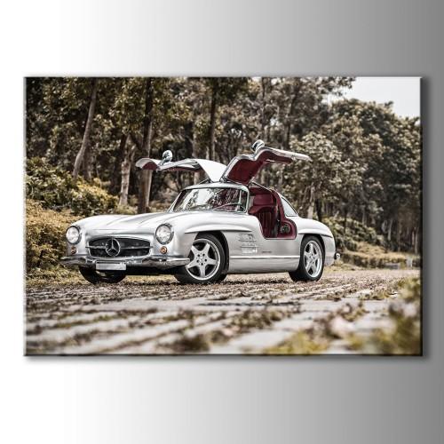 Mercedes Klasik Araba Kanvas Tablo