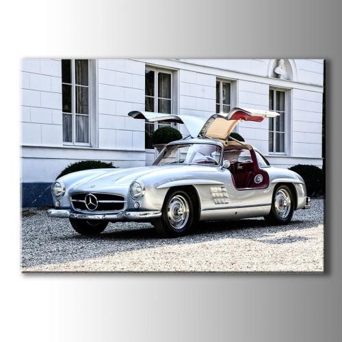Mercedes W113 Klasik Araba Kanvas Tablo