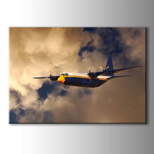 Gökyüzü Ve Uçak Kanvas Tablo