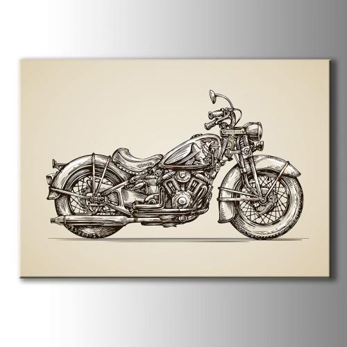 Özel Çizim Motor Kanvas Tablo