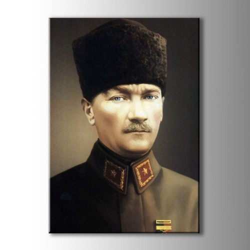 Atatürk Portre Renkli Kanvas TAblo