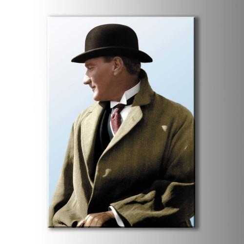 Atatürk Renkli Portre Kanvas Tablo