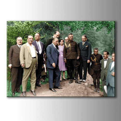 Atatürk Portreleri Renkli Kanvas