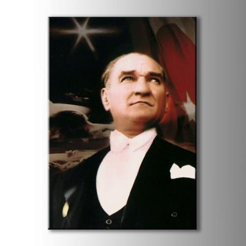 Atatürk Portreleri Renkli Kanvas Tablo