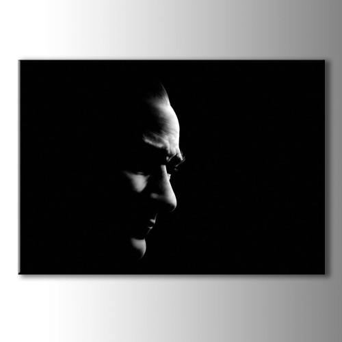 Atatürk Portreleri Siyah Beyaz Kanvas Tablo