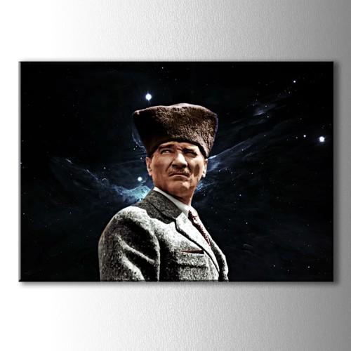 Atatürk ve Yıldızlar Kanvas Tablo