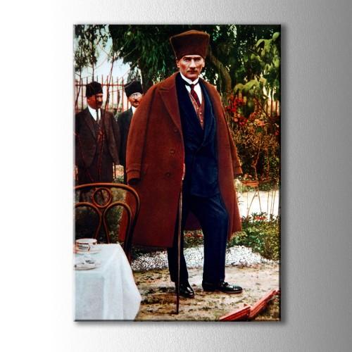 Boydan Renkli Atatürk Kanvas Tablo