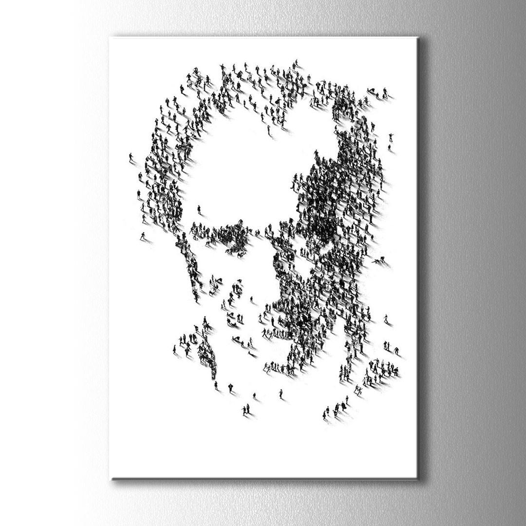 Insanlar Ataturk Silueti Kanvas Tablo