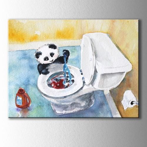 Yaramaz Panda Kanvas Tablo