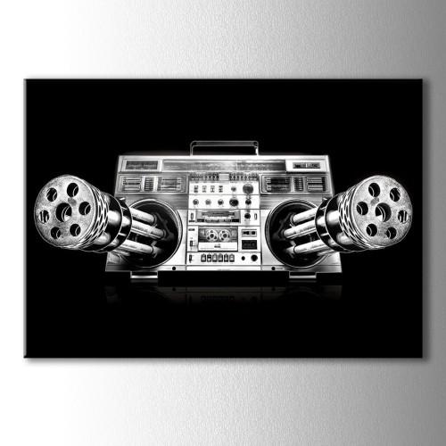 Makinalı Türek Radyo Kanvas Tablo