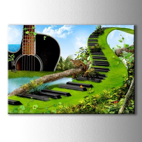 Doğanın Müziği Kanvas Tablo
