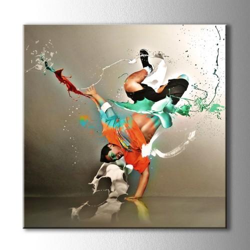 Dansın Pastel Renkleri Kare Kanvas Tablo