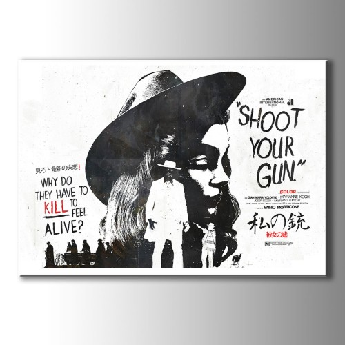 Shoot Your Gun Poster Kanvas Tablo