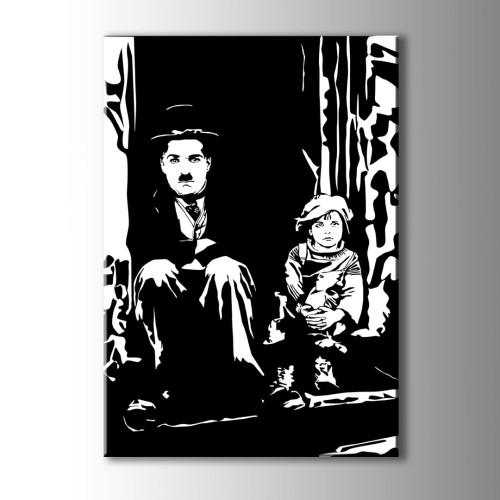 Charlie Chaplin Kanvas Tablo