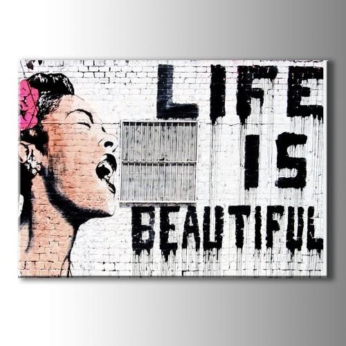 Life İs Beautiful Kanvas Tablo