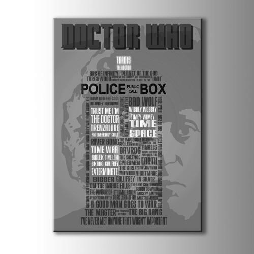 Doctor Who Kanvas Tablo
