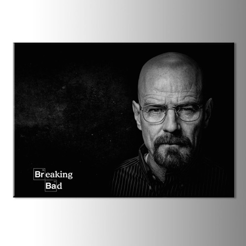 Siyah Breaking Bad Kanvas Tablo