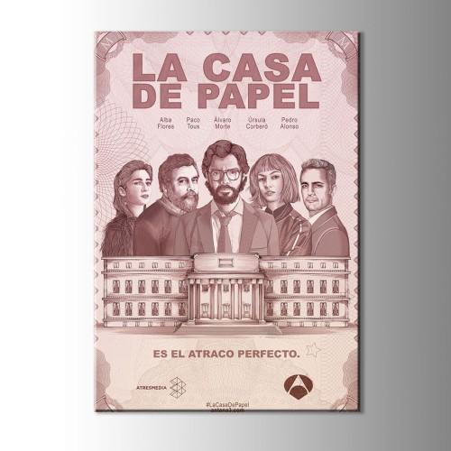La Casa De Papel Afiş Kanvas Tablo