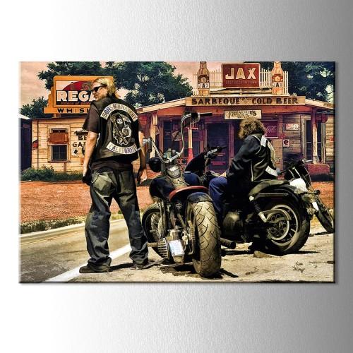 Sons Of Anarchy Kanvas Tablo