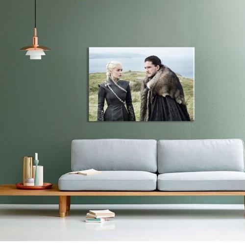Khaleesi Ve Jon Snow Kanvas Tablo