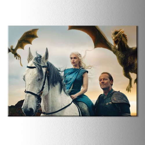 Game Of Thrones Khaleesi Kanvas Tablo
