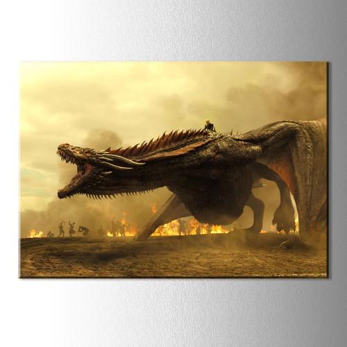Game Of Thrones Ejderha Kanvas Tablo