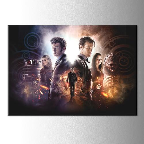 Doctor Who Karakterleri Kanvas Tablo