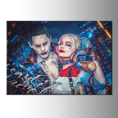 Harley ve Joker Kanvas Tablo