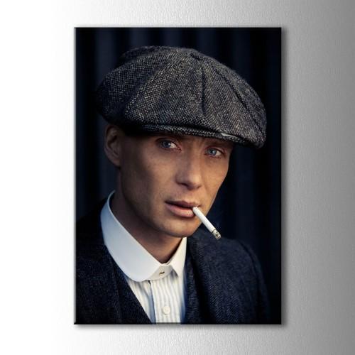 Sigara İçen Thomas Shelby Kanvas Tablo