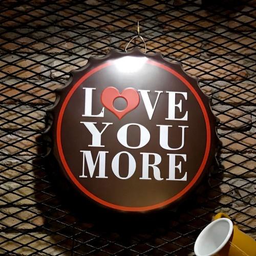 Love Yazılı Büyük Gazoz Kapağı