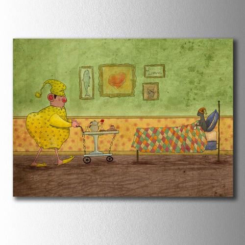 Sarı Reis ve Zeytin Kahvaltı Zamanı Kanvas Tablo