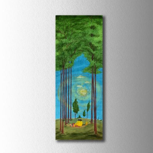 Sarı Reis Mavi Orman Kanvas Tablo