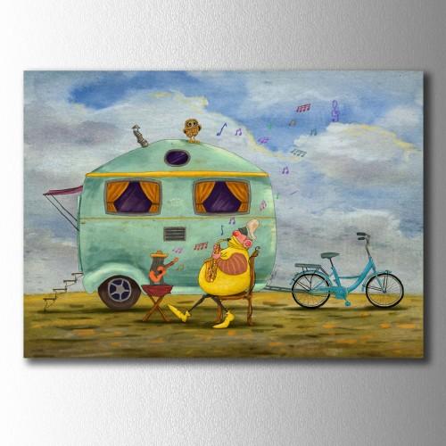 Sarı Reis karavan ve Müzik Kanvas Tablo