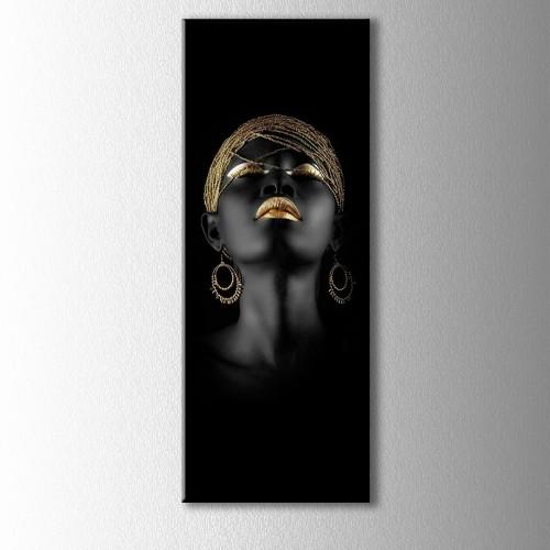 Siyahi Kadın Panaromik Kanvas Tablo