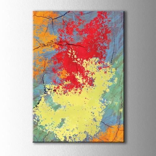 Soyut Renklerin Cümbüşü Kanvas Tablo
