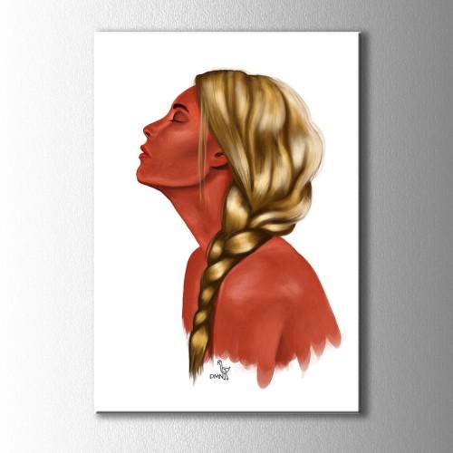 Dmn Altın Saçlı Kız Kanvas Tablo