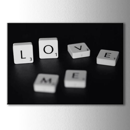 Dekoratif Love Kanvas Tablo