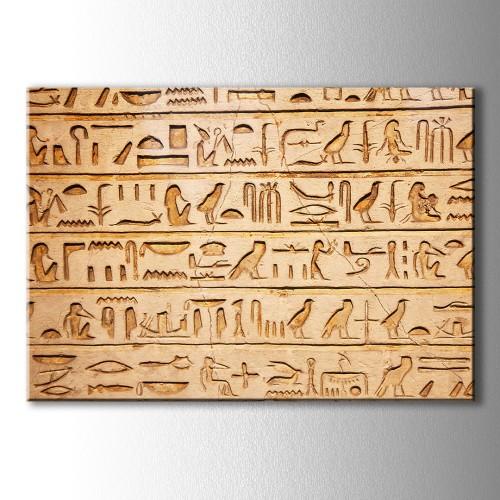 Çivi Yazısı Kanvas Tablo