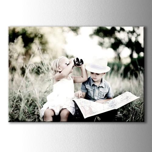 Gezgin Bebekler Kanvas Tablo