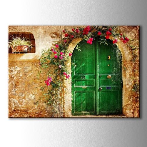 Yeşil Kapı Kanvas Tablo