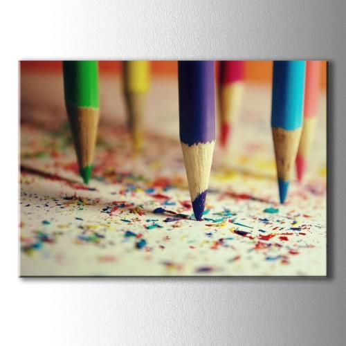 Kalemler Dekoratif Kanvas Tablo