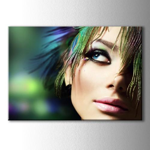 Mavi Bakış Dekoratif Kanvas Tablo