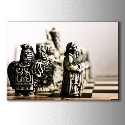 Satranç Taşları Kanvas Tablo