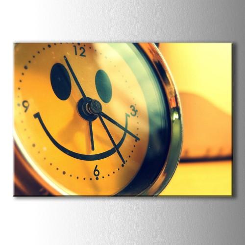 Smile Saat Kanvas Tablo