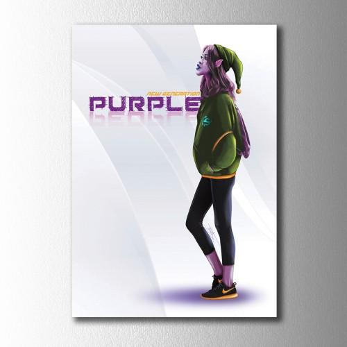 New Purple Kanvas Tablo