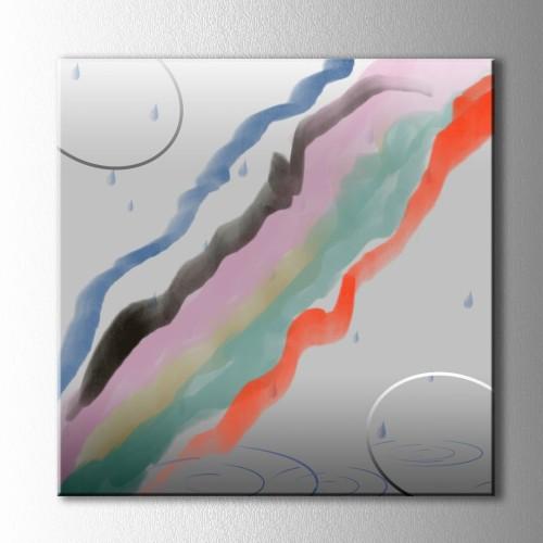 Yağmur ve Renkler Soyut Kanvas Tablo