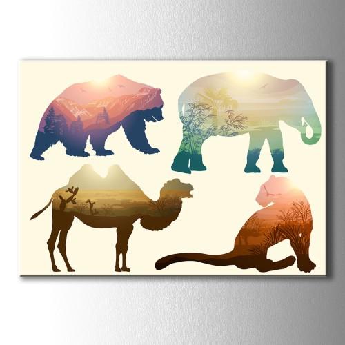 Özel Çizim Zoo Kanvas Tablo