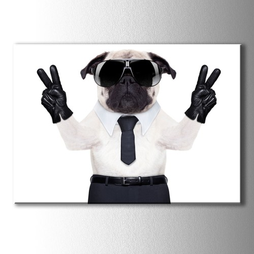 Boss Dog Kanvas Tablo